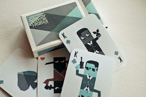 design work life » cataloging inspiration daily #blue #king #cards #playing