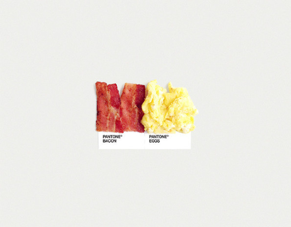 pantone: food art pairings #diptych #color #chip #food #two #simple #photography #pantone #art #pair #pairing #typography