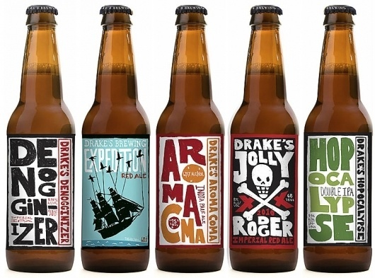Drake's Brewing Company #packaging #beer