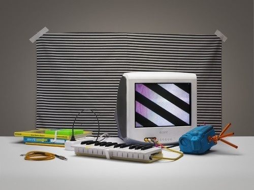 No-Domain #readymade #white stripes #javier tles #no #domain #lullaby crocodile #video art