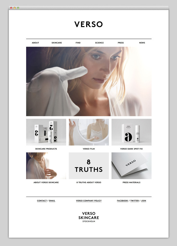 Verso skincare #website #minimal