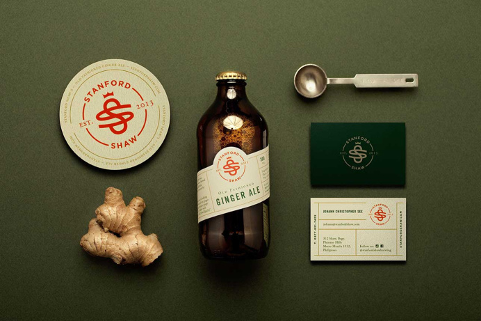 """Branding for Stanford Shaw by Análogo """"Stanford Shaw is a young brewing company based in Manila, Philippines. Their old fashioned methods"""