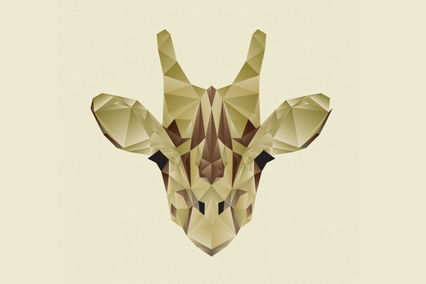 Nacho Gil #polygon #giraffe #animal