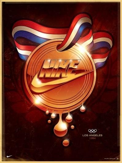 Signalnoise - The art of James White #white #signalnoise #medal #james #nike #glow #1984 #olympics