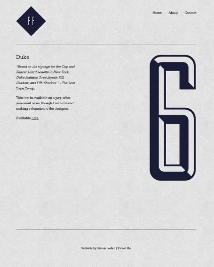 Simon Foster   Free Faces #duke #texture #typography