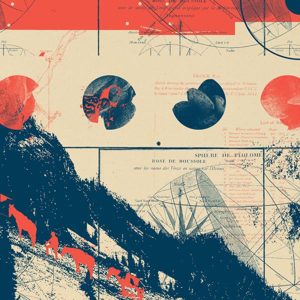 Fragments Tile 10/12 Art Print #mountain #horse #hike #print #geometric #bird #grid #art #tile #flowers