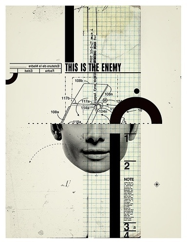 This is the enemy | Flickr - Photo Sharing! #face #portrait #collage