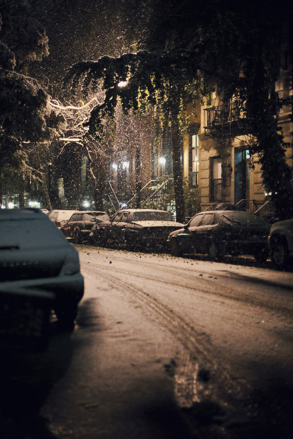 snowy manhattan #night #nyc #snow