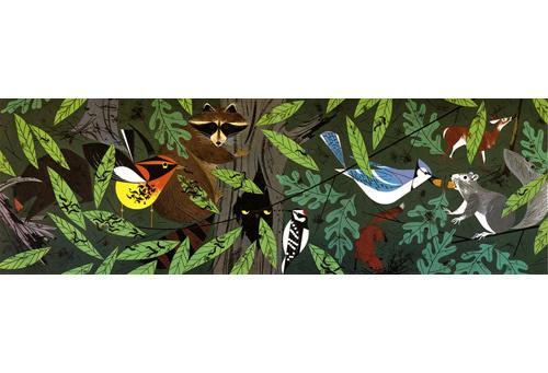 Forest Friends — Charley Harper Prints #tree #charley #bird #harper #animal