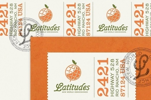 Lovely Stationery | Curating the very best of stationery design #globe #script #branding #stationary #orange #identity #arrow #logo #latitudes