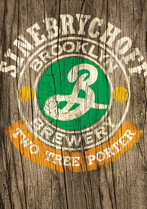 Two Tree Porter Key visual #beer #branding #advertising #wood #paint #brand #brooklyn