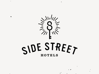 Side Street Hotels #logo #key #branding