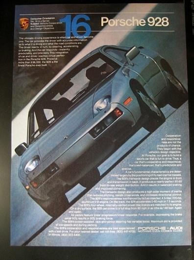 Porsche Advertising #porsche #vintage #1980s #advertising