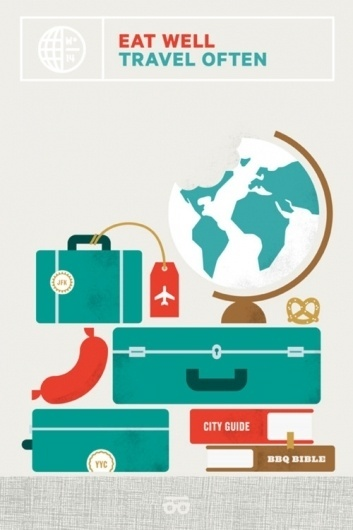 Wander Blog #suitcase #globe #eat #travel #wander #illustration #ed #nacional