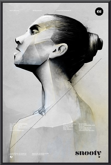 CORNERS AND EDGES on the Behance Network #woman #print #poster #drawing #sketch