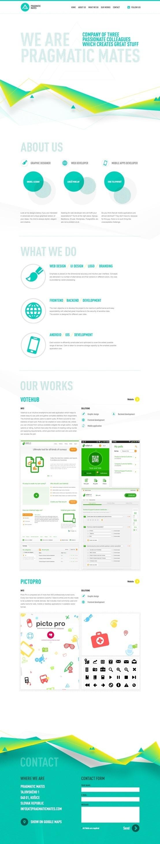 Pragmatic Mates Website Design #design #website #blue #web #green
