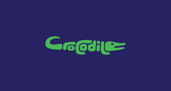 Typography #crocodile #typography