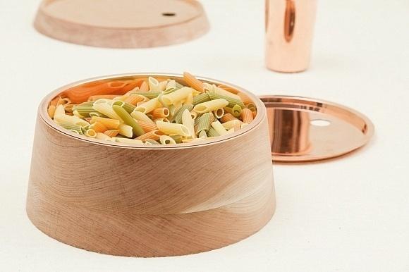 Bravo! Design Studio wood and copper containers, Base collection. #design #home #accessories