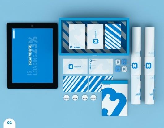 CREATIVEHYPE™ on the Behance Network #creative #brand #arranging #blue #hype