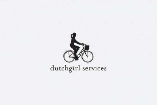 david taylor || design & illustration #logo #bike #silhouette #girl