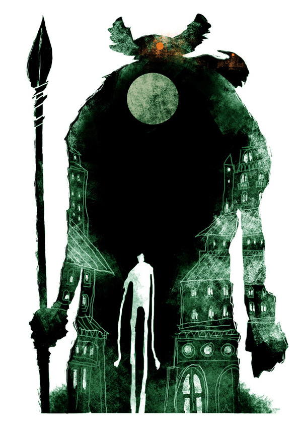 Jeffrey Alan Love Doppel for Tor.com #illustration #creature #shadow
