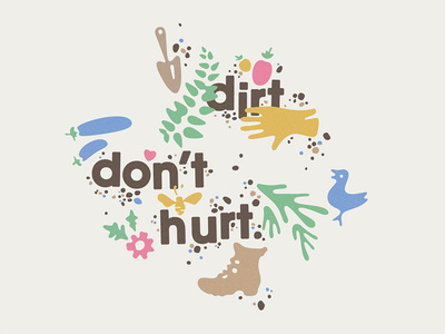 """Dirt Don't Hurt"" Garden Tote via Pat Iadanza #garden #illustration"