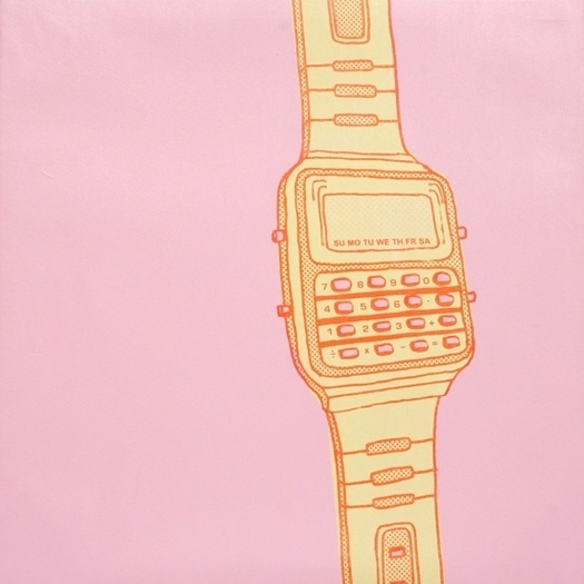SCOTT CAMPBELL #math #funky #pink #retro #digital #watch