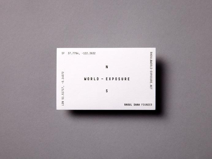 World-Exposure - Steven Camp #business #card #monochrome #brand #minimal #typography