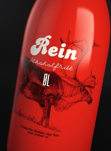 Rein beer packaging design | Art and design inspiration from around the world - CreativeRoots #packaging #beer #rein #red