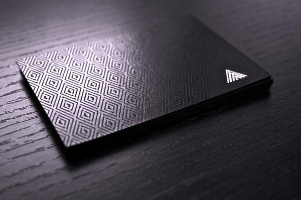 Armarion #uv #business #card #print #screenprint #black #paper #cards #luxury