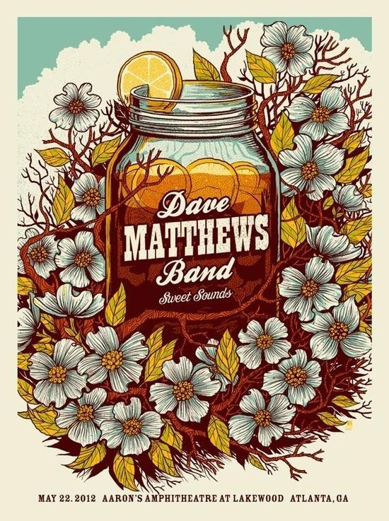 Dave Matthews Band #music #silkscreen #poster #typography