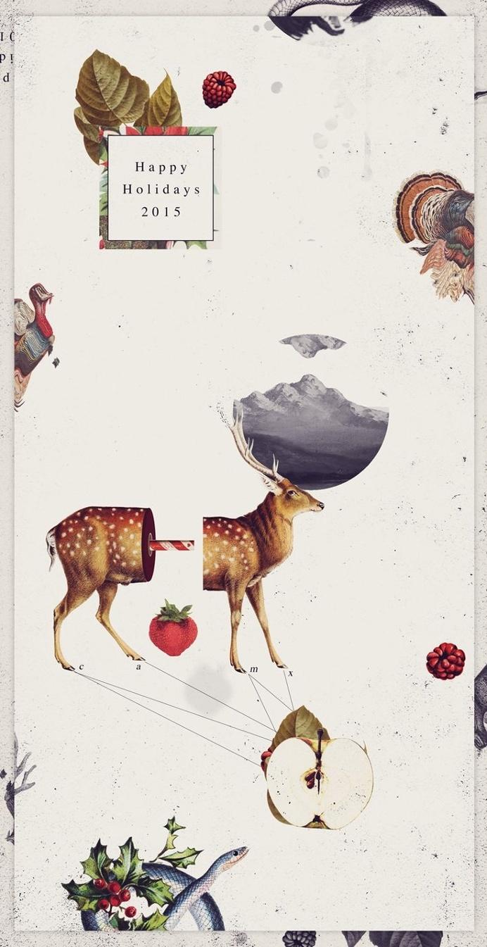 Christmas card 2015- Postcard collage