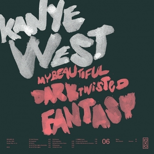 All sizes | 06.Kanye West - My Beautiful Dark Twisted Fantasy | Flickr - Photo Sharing! #cover #type #typography