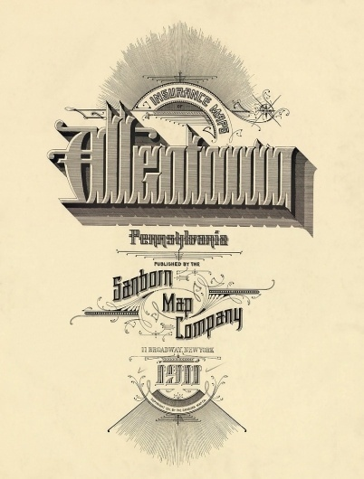 BibliOdyssey: Sanborn Fire Insurance Map Typography #heading #lettering #vintage #typography