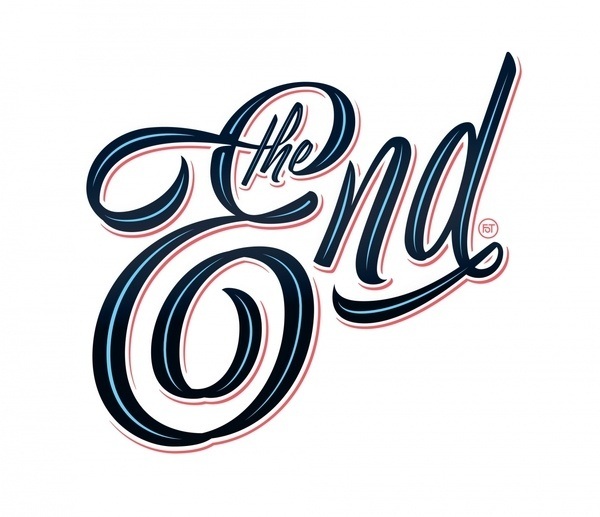 The End #lettering #script #brush #typography