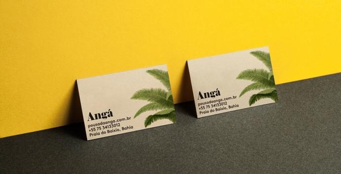 Anga branding corporate design inspiration www.mindsparklemag.com business card