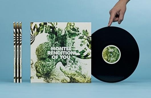 Montée | Christian Bielke #print #design #record #vinyl #sleaves