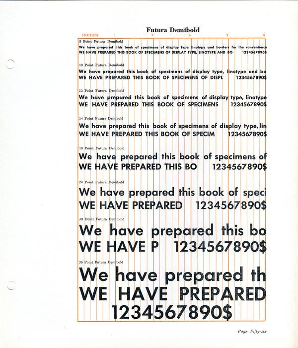 Futura Demibold type specimen #type #specimen