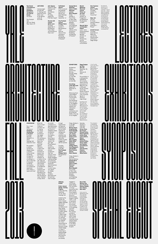 Yale School of Architecture Jessica Svendsen #type #poster