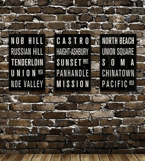 COLLECTION of 3 San Francisco Subway Sign Prints by FlyingJunction #sigeanage