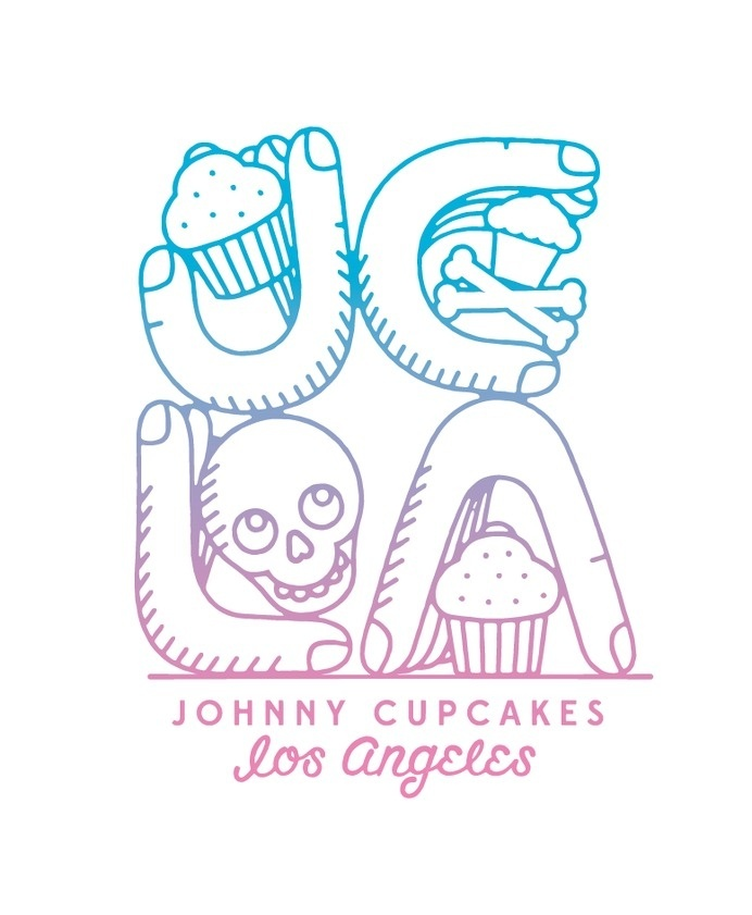 Johnny Cupcakes Los Angeles 2014 available only at the 7959 Melrose Ave location.#chris #delorenzo #t #cupcakes #shirt #illustration #johnny