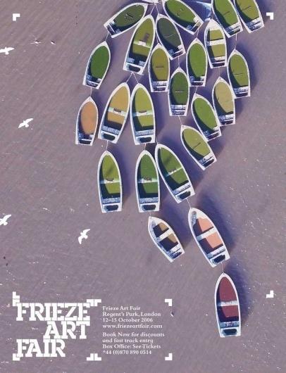 Frieze Art Fair advert by GTF #advert #design #graphic