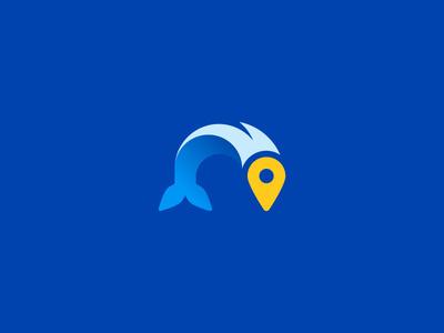 #tsanev #logo #design #fish #identity #pin #location