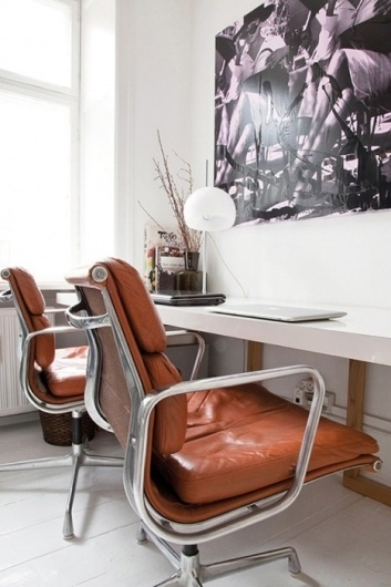 convoy #interior #lamp #office #design #desk #leather #window #light #eames