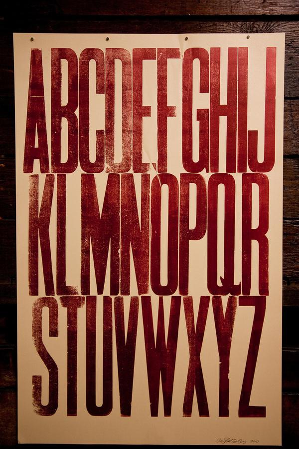 Typography #woodcut #vintage #typography
