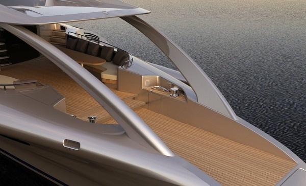 Yacht with wooden floor #super #adastra #yacht #modern