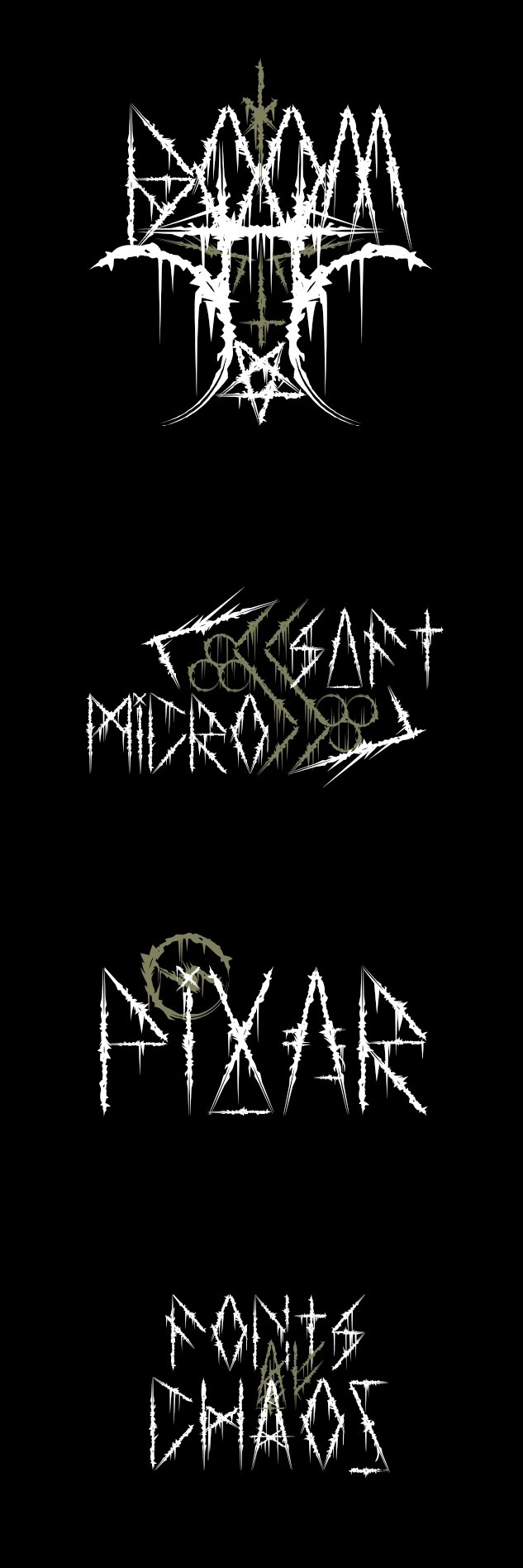 Atuvuta - Fonts of Chaos. #fonts #font #types #typographism #blackmetal #type #typo #typography