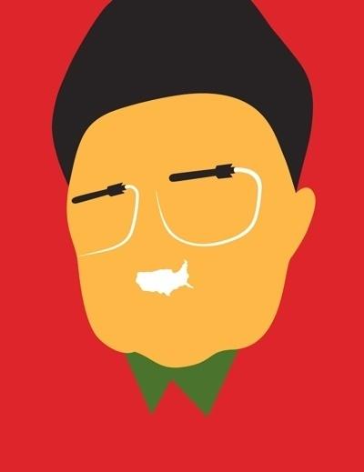 Creative Review - Guess Who? #flat #illustration #bar #idea #graphics #noma