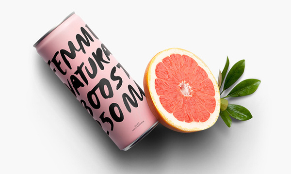 Femme Natural Boost #packaging #can #typeography