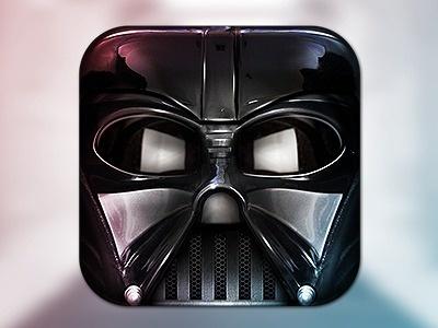 Vader_dribbble #icon #iphone #application #ipad